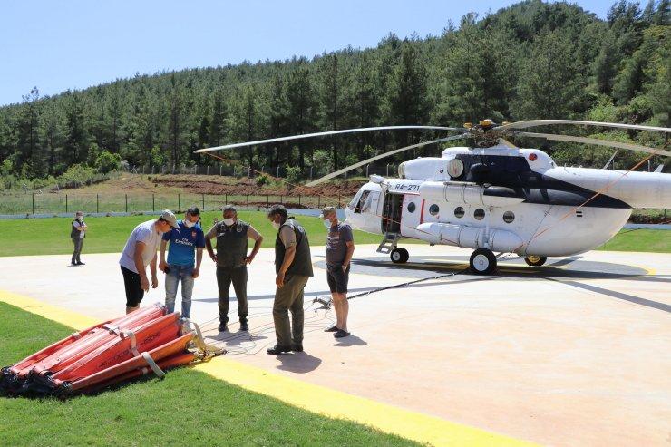 Söndürme Helikopterleri, Marmaris Ve Milas'ta Kullanıma Hazır